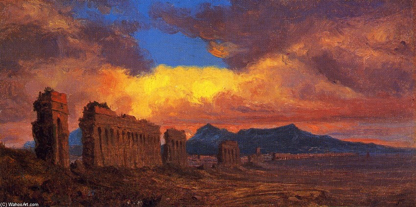'Roman Aqueduct' by Jervis Mcentee (1828-1891, United States)