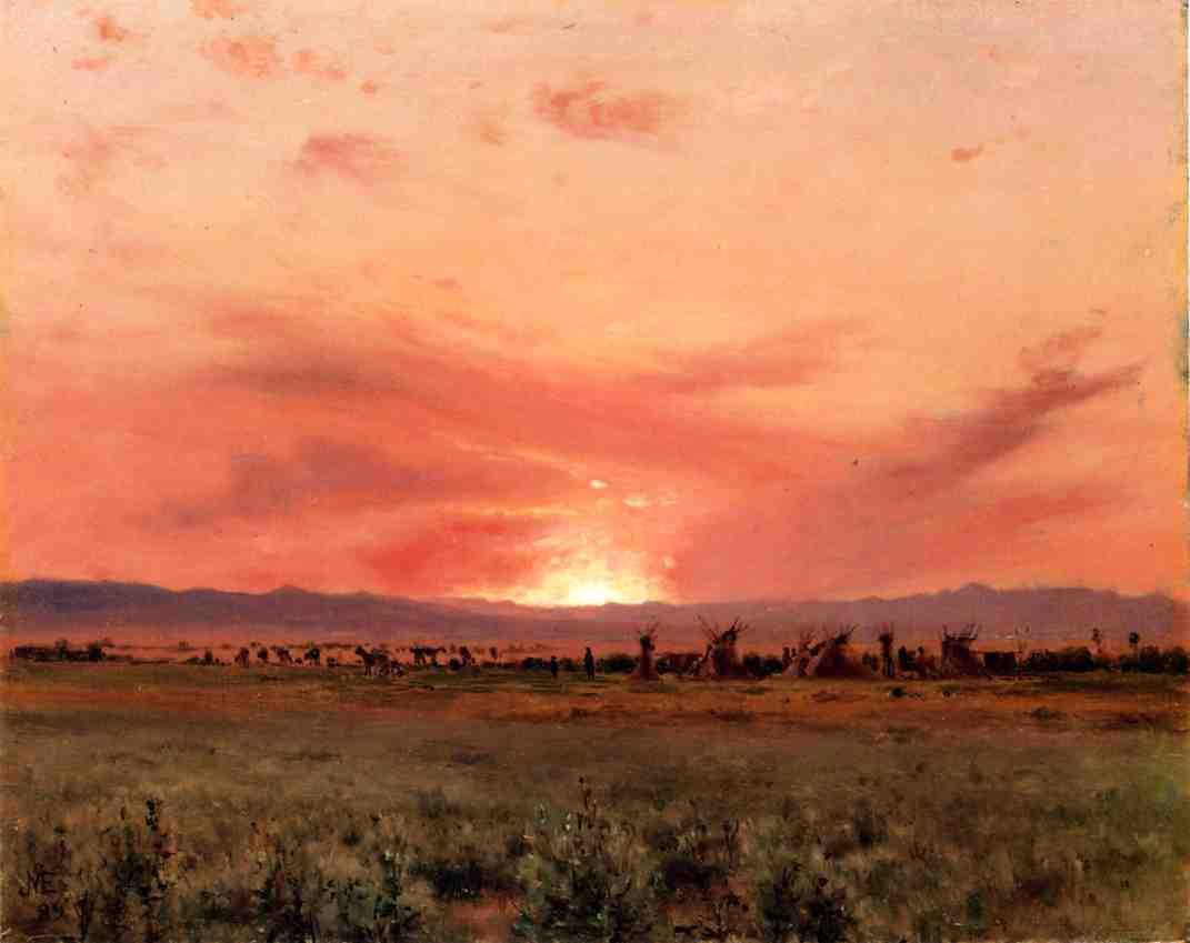 'The Far West' by Jervis Mcentee (1828-1891, United States)