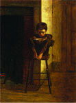 Jonathan Eastman Johnson - Little Boy on a Stool