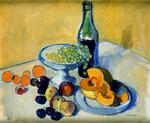 Josep Mompou Dencausse - Melon, Fruit And Wine Bottle