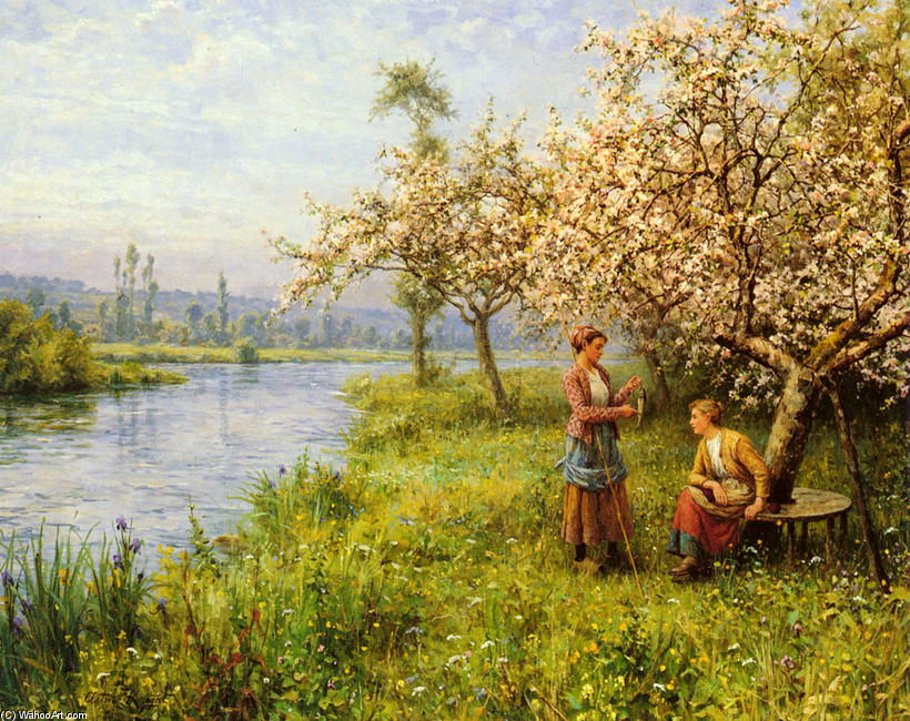 'Country Women after Fishing on a Summer's Day' by Louis Aston Knight