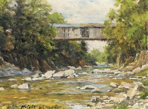 'Covered Bridge - Wallingford, Connecticut' by Louis Aston Knight