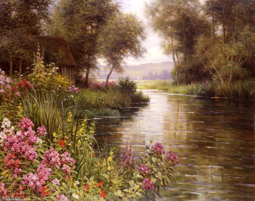 'Flower along the Riviere' by Louis Aston Knight