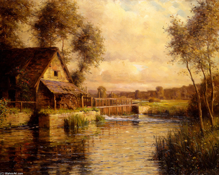 'Old Mill in Normandy' by Louis Aston Knight