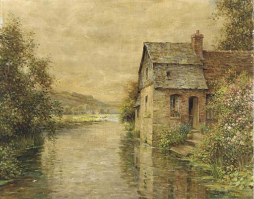 'On the River' by Louis Aston Knight