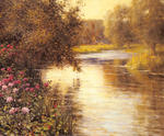 Louis Aston Knight - Spring Blossoms along a Meandering River