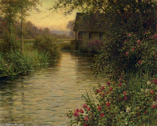 The Water Mill by Louis Aston Knight | Art Reproduction | WahooArt.com