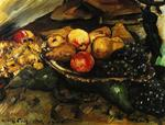Lovis Corinth - Still Life with Fruit and Wine Glass