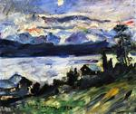Lovis Corinth - The Walchensee on Saint John-s Eve