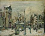 Maurice Utrillo - Abbesses Square in the snow