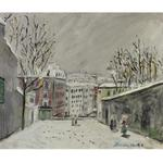 Maurice Utrillo - Rue Du Mont-Cenis Under The Snow