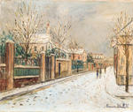 Maurice Utrillo - Suburban street in the snow