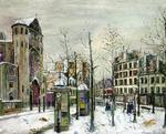 Maurice Utrillo - The Place des Abbesses in the Snow