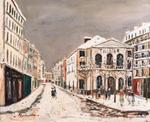 Maurice Utrillo - The theater workshop in the snow
