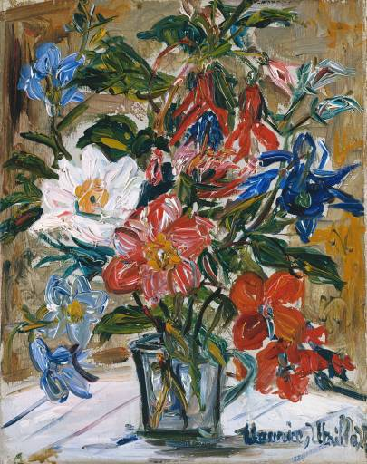 Vase of flowers by Maurice Utrillo (1883-1955, France) | WahooArt.com