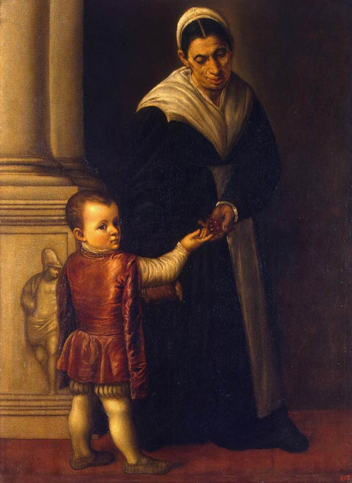 'Portrait of a Boy with his Nurse' by Moretto Da Brescia