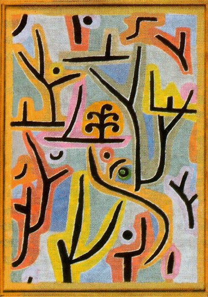 'Park near Lu' by Paul Klee (1879-1940, Switzerland)