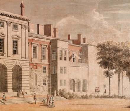 'The garden front of Old Somerset House, London' by Paul Sandby