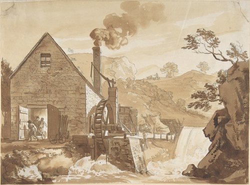 'The Iron Forge between Dolgelli and Barmouth 1' by Paul Sandby