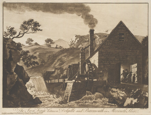 The Iron Forge between Dolgelli and Barmouth by Paul Sandby | Museum Quality Reproductions | WahooArt.com