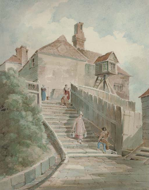 The Light Steps, Hastings by Paul Sandby | Painting Copy | WahooArt.com