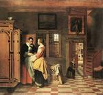 Pieter De Hooch - At the Linen Closet