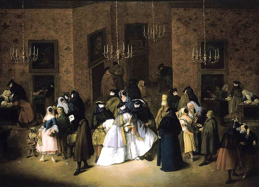 'The Ridotto in Venice' by Pietro Longhi (1702-1785, Italy)