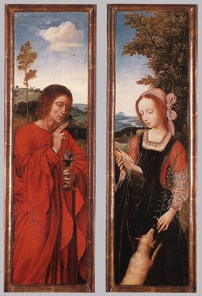 John the Baptist and St Agnes by Quentin Massys (1466-1529, Belgium) | WahooArt.com