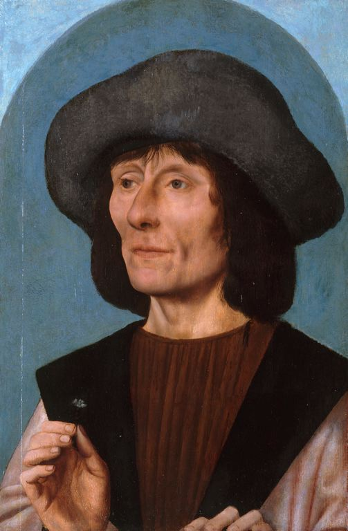 Portrait of a Man with a Pink by Quentin Massys (1466-1529, Belgium) | Painting Copy | WahooArt.com