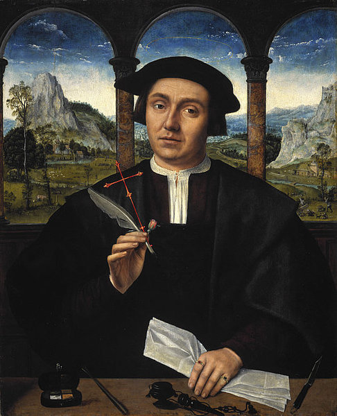Portrait of a Man by Quentin Massys (1466-1529, Belgium) | WahooArt.com