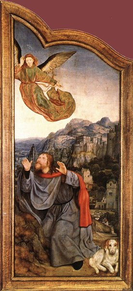 St Anne Altarpiece (left wing) by Quentin Massys (1466-1529, Belgium) | WahooArt.com