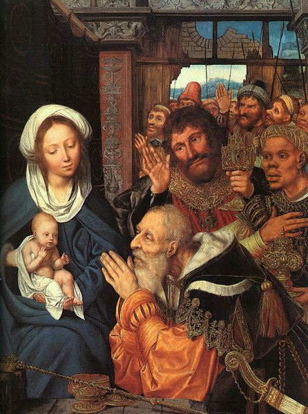 The Adoration of the Magi by Quentin Massys (1466-1529, Belgium) | Famous Paintings Reproductions | WahooArt.com
