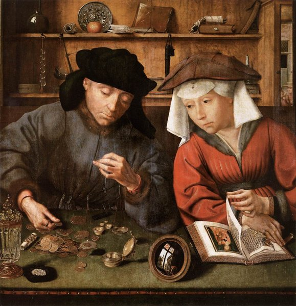 The Moneylender and his Wife by Quentin Massys (1466-1529, Belgium) | WahooArt.com