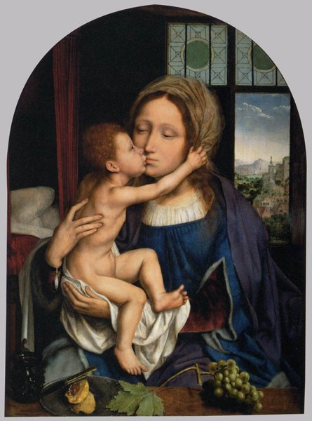 'Virgin and Child 2' by Quentin Massys (1466-1529, Belgium)