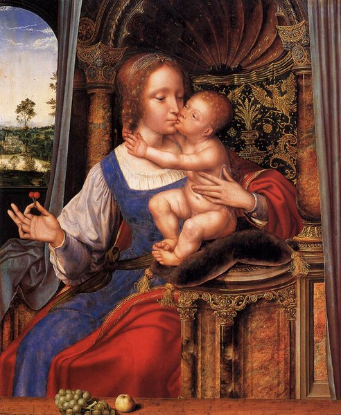 'Virgin and Child' by Quentin Massys (1466-1529, Belgium)