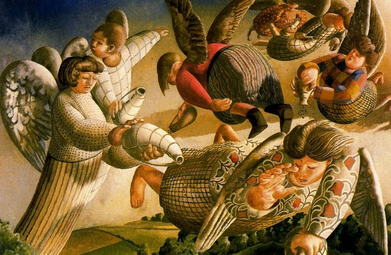 Angels of the Apocalypse by Stanley Spencer (1891-1959, England) |  | WahooArt.com