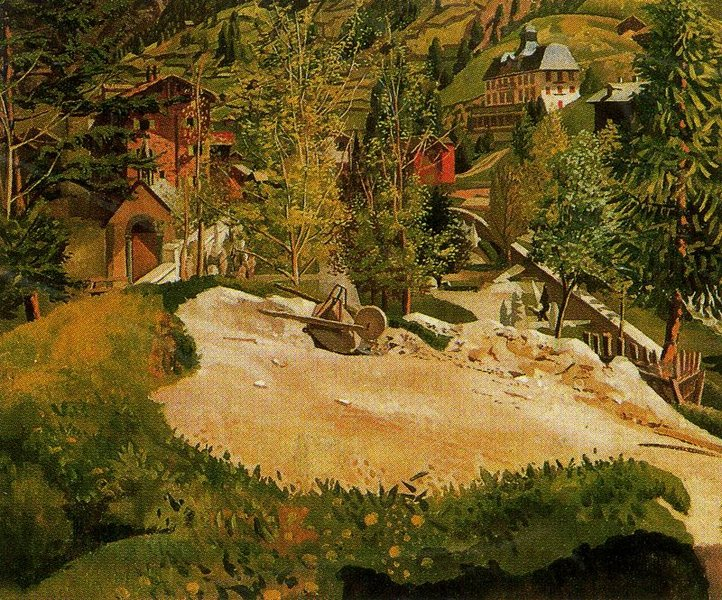 'Zermatt' by Stanley Spencer (1891-1959, England)