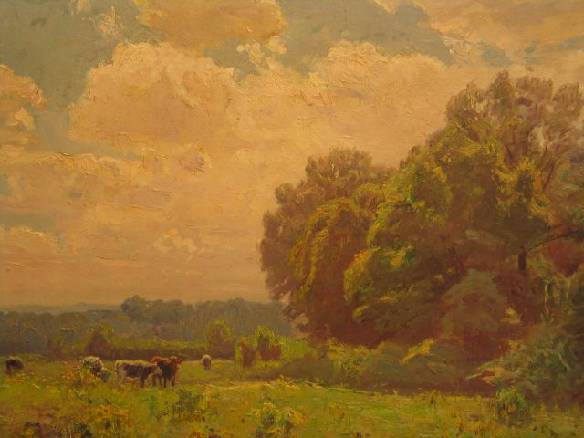 A Midsummer Idyll at Noon by Theodore Clement Steele (1847-1926, United States) | Painting Copy | WahooArt.com