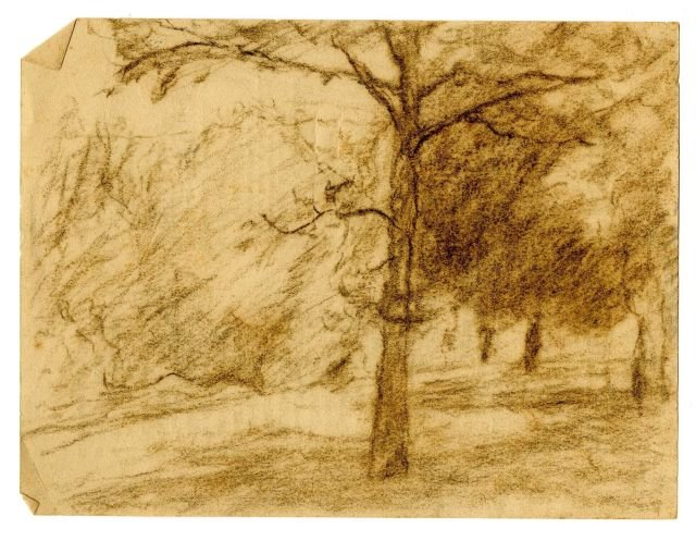 Landscape sketch 10 by Theodore Clement Steele (1847-1926, United States) | Painting Copy | WahooArt.com