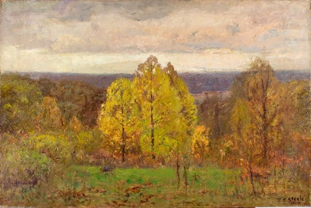 The Breaking Sky (Autumn, North Slope) by Theodore Clement Steele (1847-1926, United States) | WahooArt.com