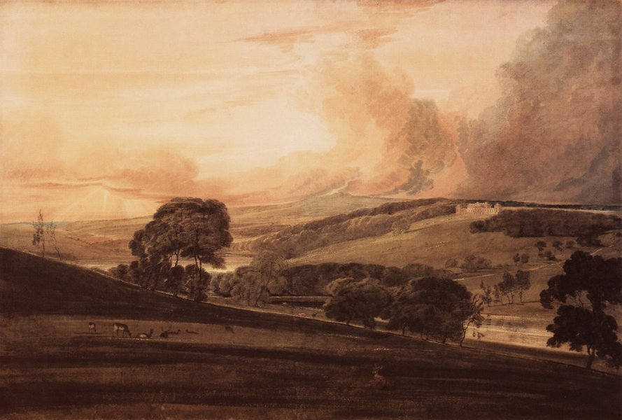 'Harewood House, Yorkshire, from the South­East' by Thomas Girtin (1775-1802, England)