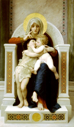 William Adolphe Bouguereau - Lenfant Jesus and the Virgin Saint John the Baptist