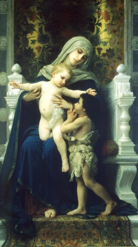 The Virgin and St. John Lenfant Jesus Baptiste2 (William Adolphe Bouguereau)