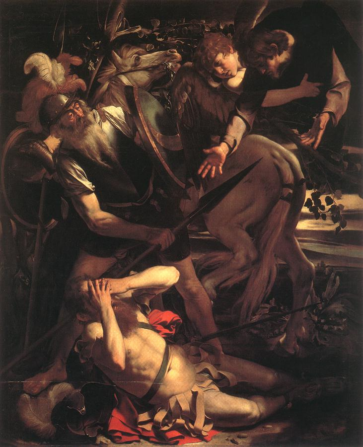 Caravaggio - Michelangelo Merisi >> The Conversion Of St Paul  |  (Oil, artwork, reproduction, copy, painting).