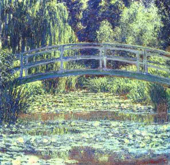 Claude Monet >> The Japanese Bridge  |  (Oil, artwork, reproduction, copy, painting).