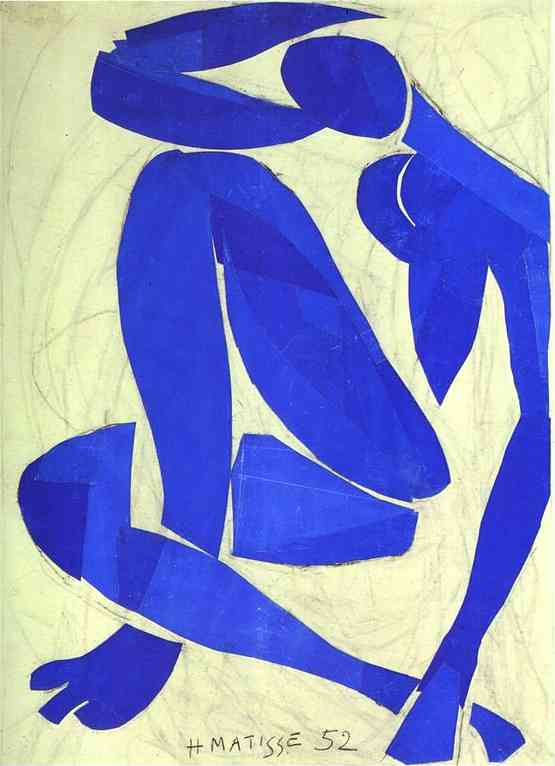 Henri Matisse >> Blue Nude IV  |  (Oil, artwork, reproduction, copy, painting).