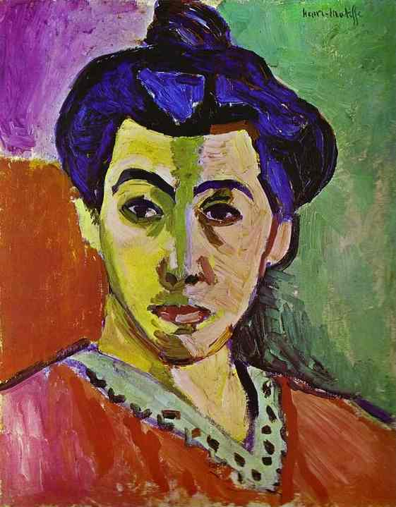 Henri Matisse >> Madame Matisse, The Green Line ( La Raie verte)  |  (Oil, artwork, reproduction, copy, painting).