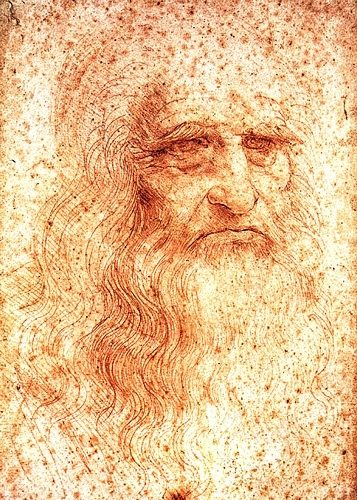 Leonardo da Vinci >> Self-Portrait  |  (Drawing, artwork, reproduction, copy, painting).