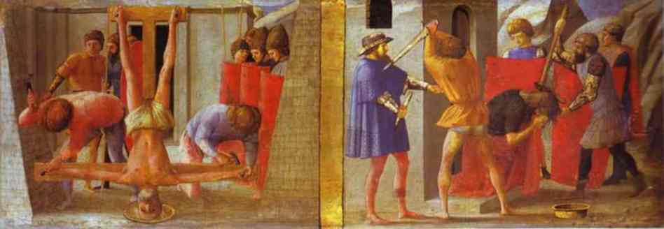 Masaccio di San Giovanni - The Cricifixion of St. Peter. The Beheading of St. John the Baptist
