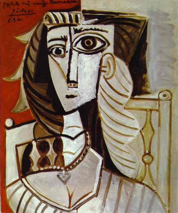Pablo Picasso >> Jacqueline  |  (Oil, artwork, reproduction, copy, painting).